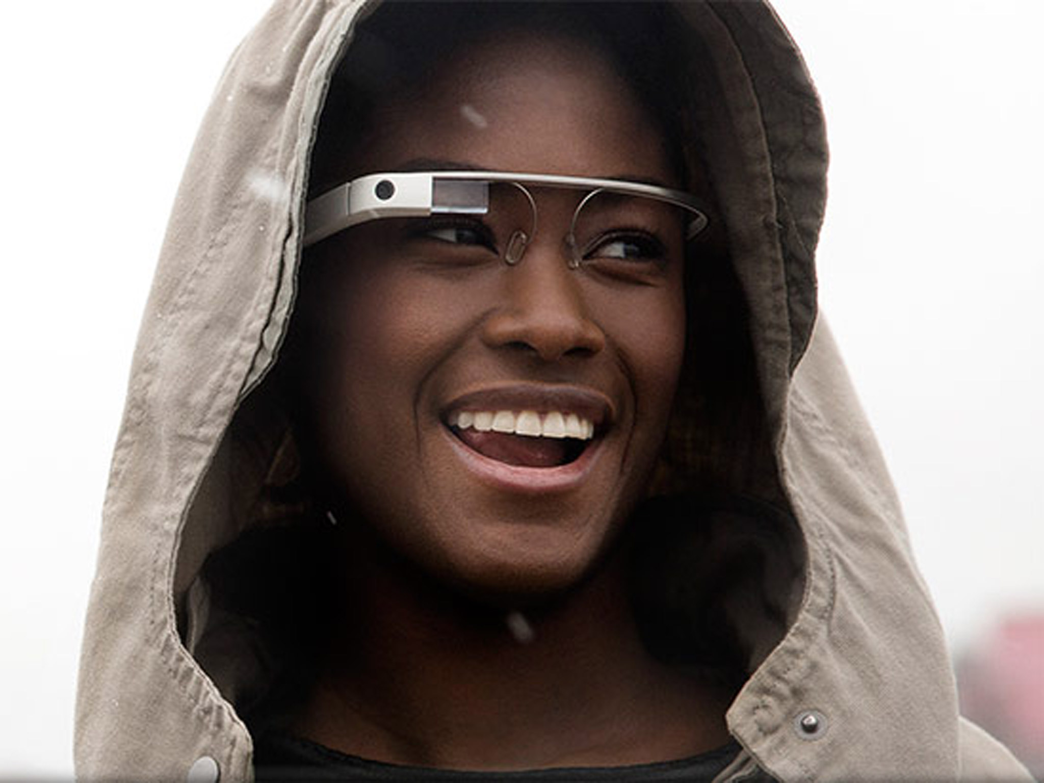 Full matched Google glass and guy