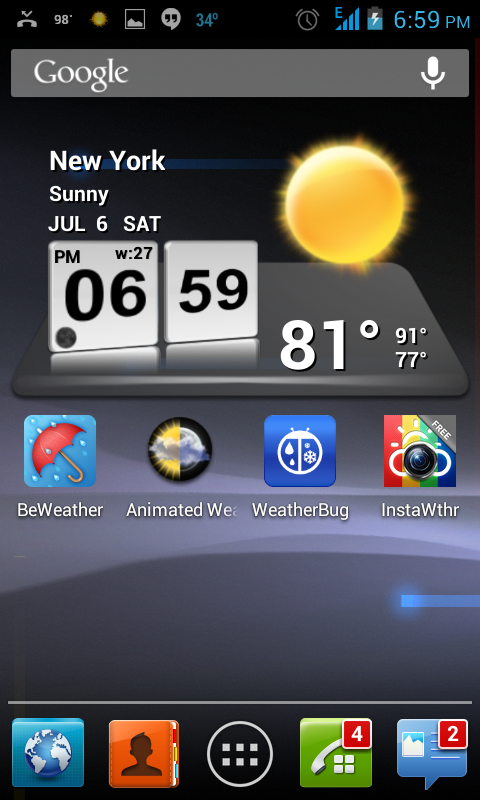 3D weather widget for android