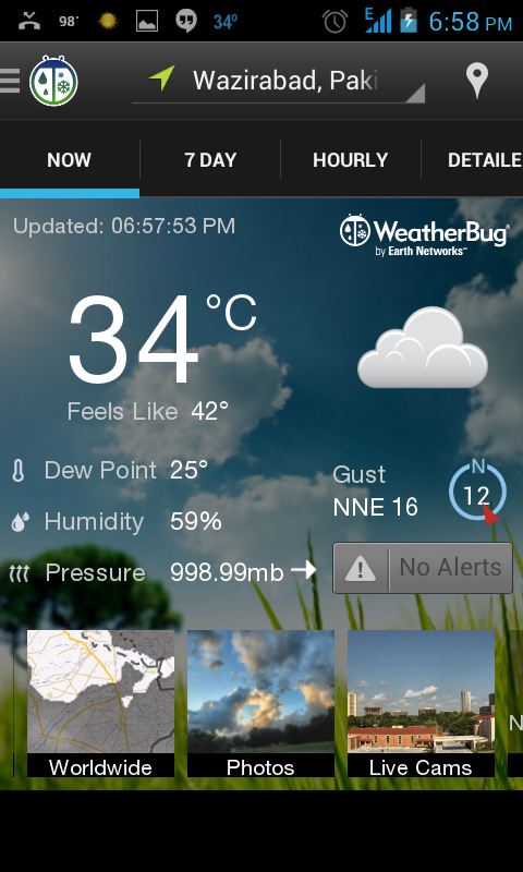 WeatherBug - android weather apps