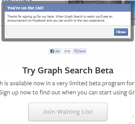 Graph Search Confirmation