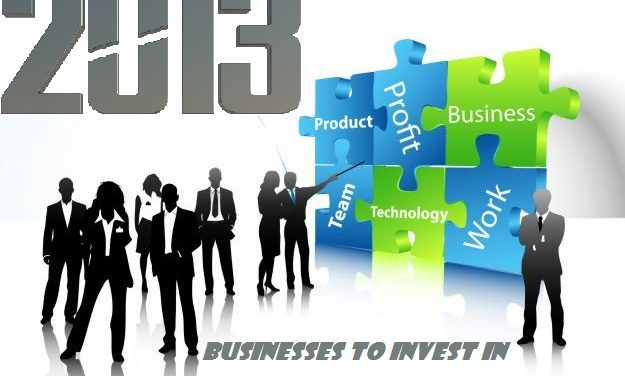 Top Businesses To Invest In During 2013 For Huge Profits