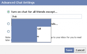 Turn Facebook Chat Off for someone