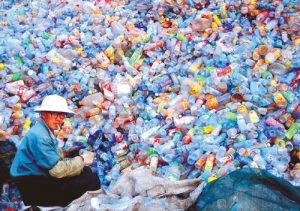Plastic Bottles in China for recycle
