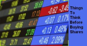 things to think before buying shares of any company