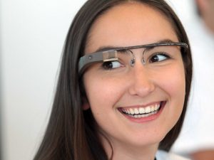 Girl wearing Google glass - Google glass pictures gallery