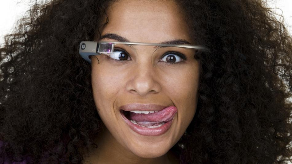 Google glass on the eyes