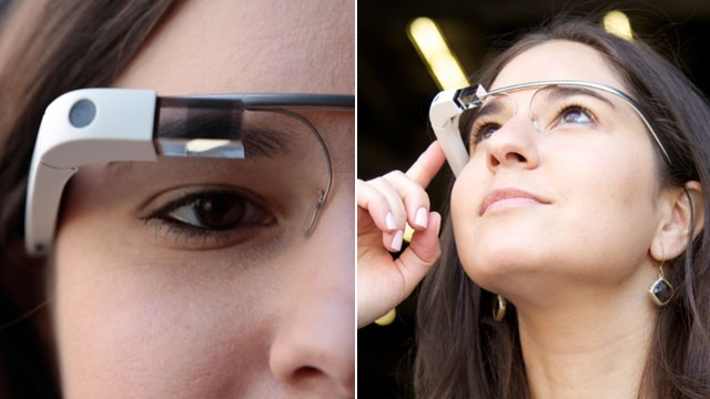 Google glass on Girls eyes