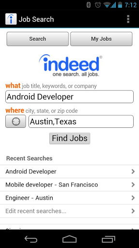 Job search android app for IT students