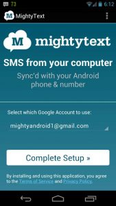 MightyText for android - android tips