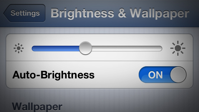 Auto brightness - iPhone 5 tips
