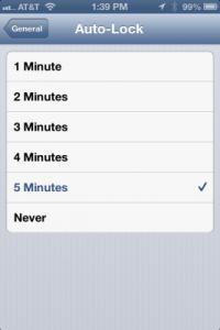 Auto lock iPhone 5 tips