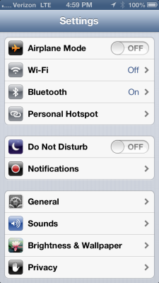 Bluetooth WiFi in iPhone 5