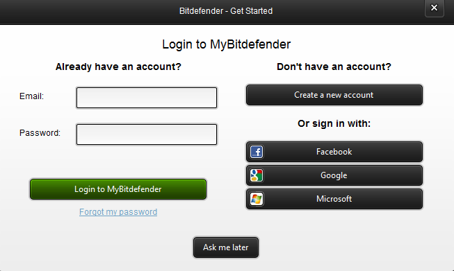 bitdefender sign up