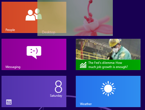move tiles in windows 8 start screen