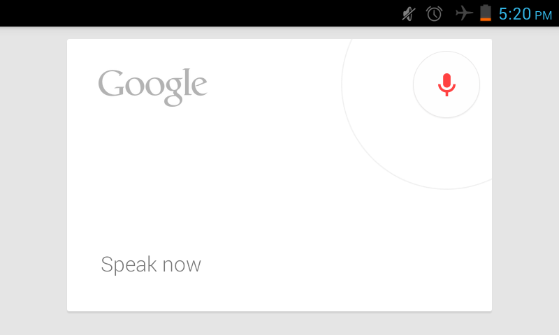 Google voice search in Jelly bean