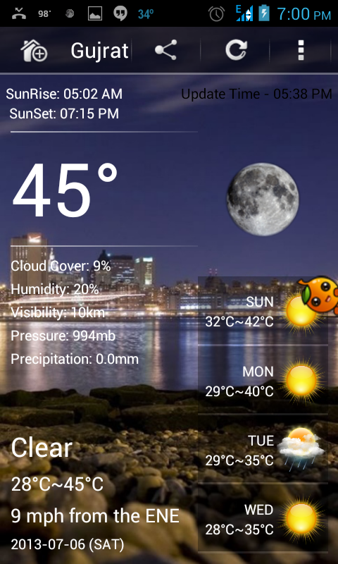 Weather Pro - android weather apps