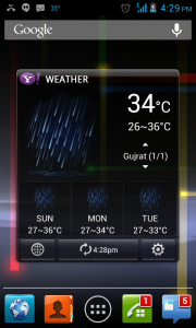 Yahoo! Weather android app - weather apps for android