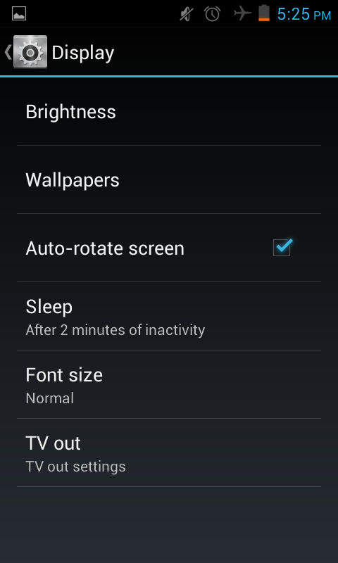 change auto rotate settings in the Jelly bean