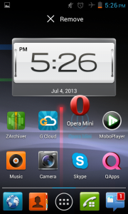 remove any icon from the Jelly bean home screen