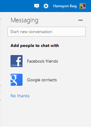 Chat with facebook and Google friends in Hotmail