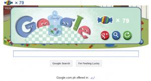 I scored 79 In Google doodle game