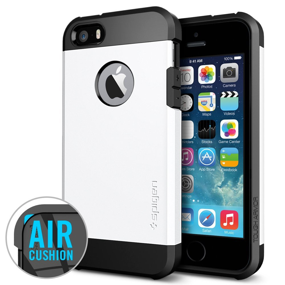 smooth white tough armor case for iPhone 5s