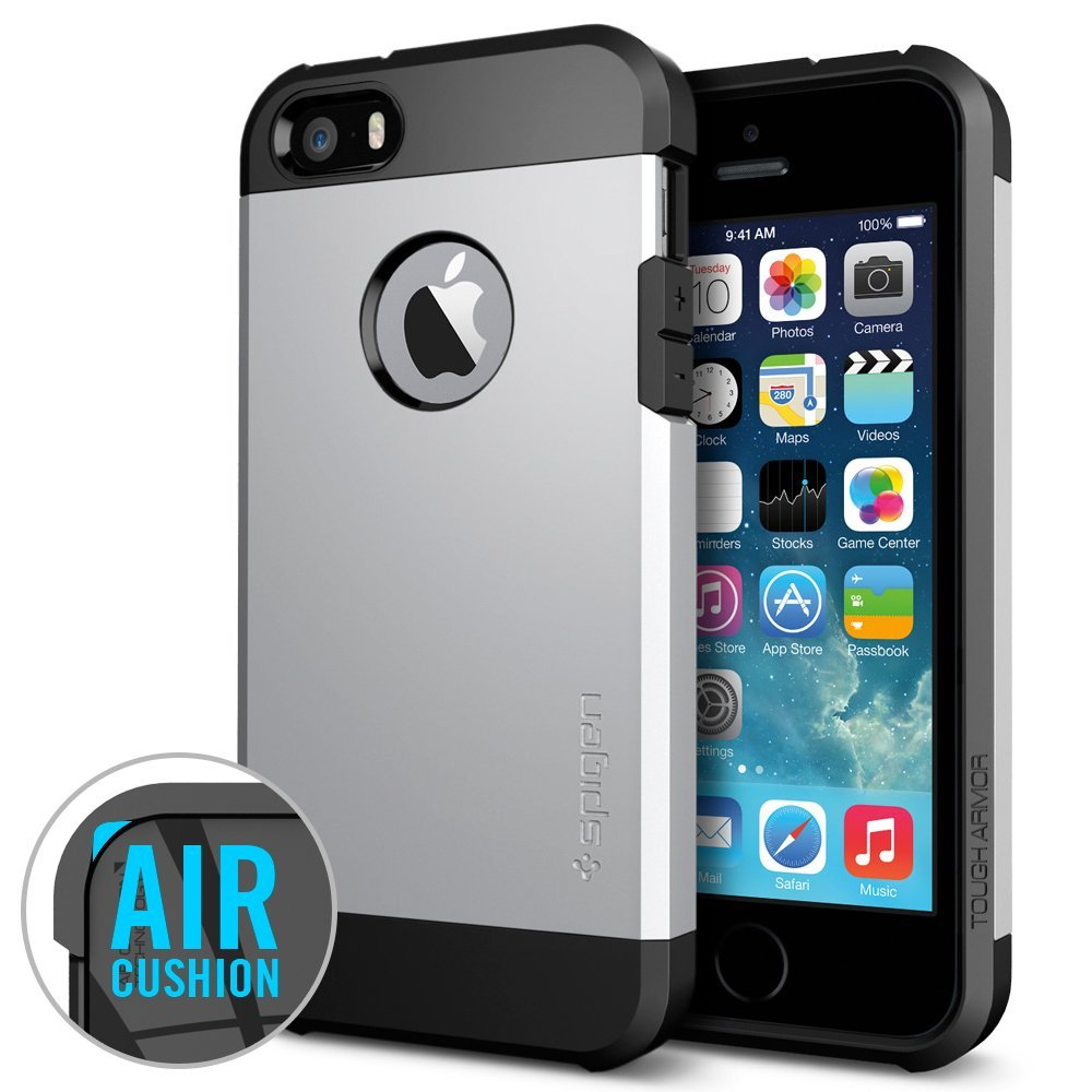 tough armor case for iPhone 5s satin silver