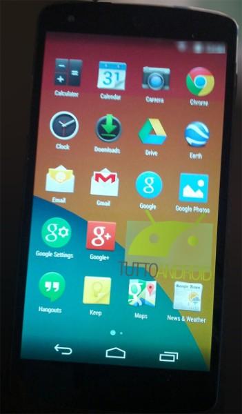 Android KitKat,Nexus 5 Leaked Photos