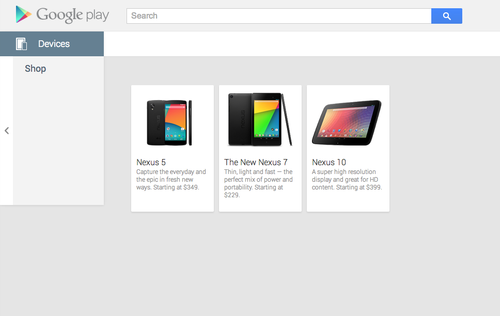 Google nexus 5 listed at google play store