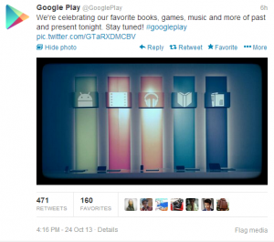 Google play tweet confirming there will be nothing new