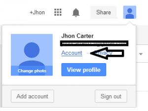account settings in Google plus