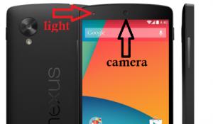 camera and light in Nexus 5