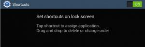 note 3 lock screen shortcuts