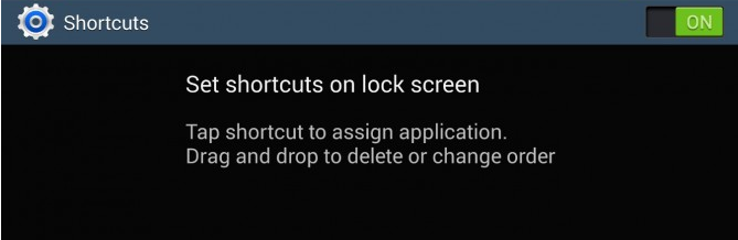 note 3 lock screen shortcuts