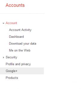 open Google plus from setting menu