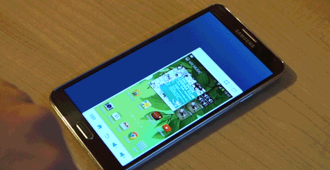shrink galaxy note 3 screen with finger