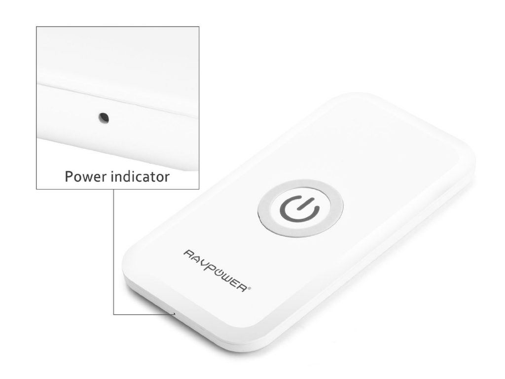 RAVPower Qi-enabled wireless charging pad