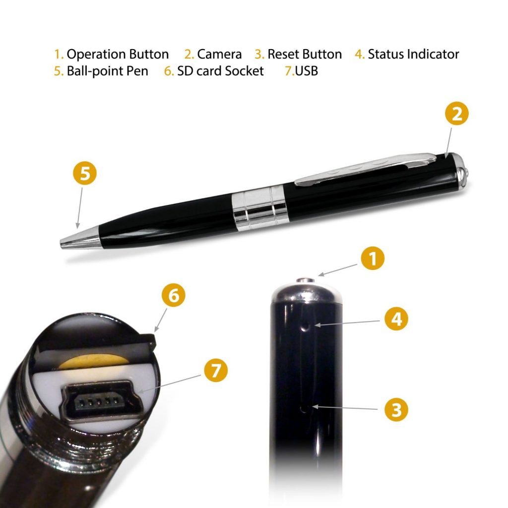spy pen camera - weird gadgets to gift on this Christmas