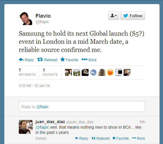 Samsung Galaxy S5 To Be Released In March (Italian Journalist Confirmed)