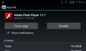enable flash on android 4.4 KitKat