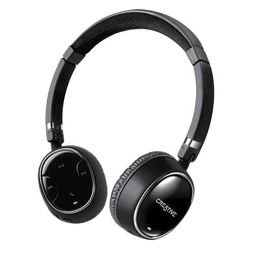 Wireless Bluetooth headphones with invisible microphone