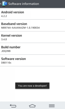 you are now a developer - LG G2 root