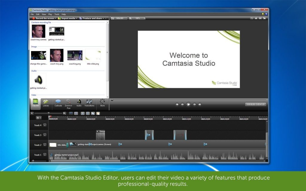 camtasia professional video editing software