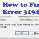 Fix iTunes Error 3194 while Restoring or Updating iPhone/iPad